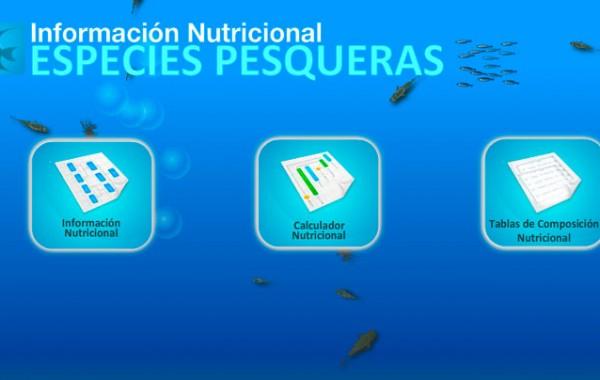 Información nutricional especies pesqueras