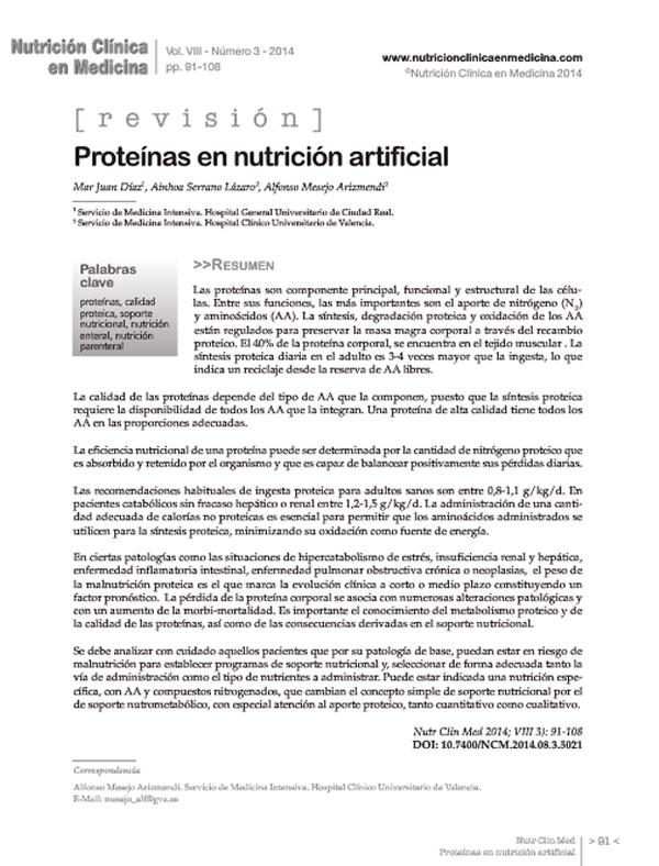 Nutrición Clínica en Medicina